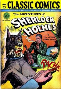 Cover Thumbnail for Classic Comics (Gilberton, 1941 series) #33 - Adventures of Sherlock Holmes