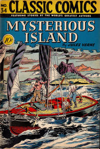 Cover Thumbnail for Classic Comics (Gilberton, 1941 series) #34 - The Mysterious Island
