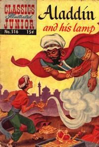 Cover Thumbnail for Classics Illustrated Junior (Gilberton, 1953 series) #516 - Aladdin and His Lamp