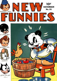 Cover Thumbnail for New Funnies (Dell, 1942 series) #81