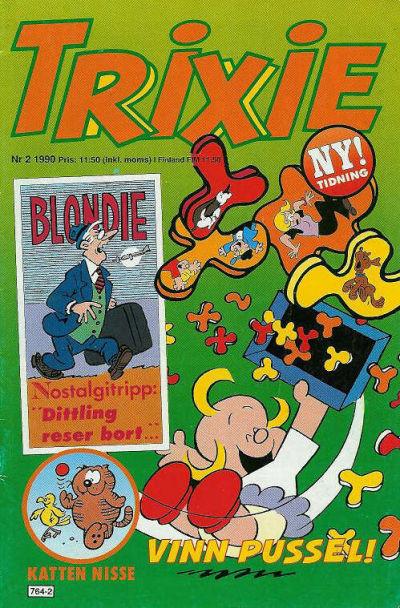 Cover for Trixie (Atlantic Förlags AB; Pandora Press, 1990 series) #2/1990