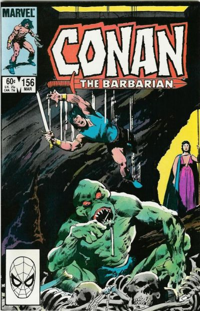 Cover for Conan the Barbarian (Marvel, 1970 series) #156 [Newsstand Edition]