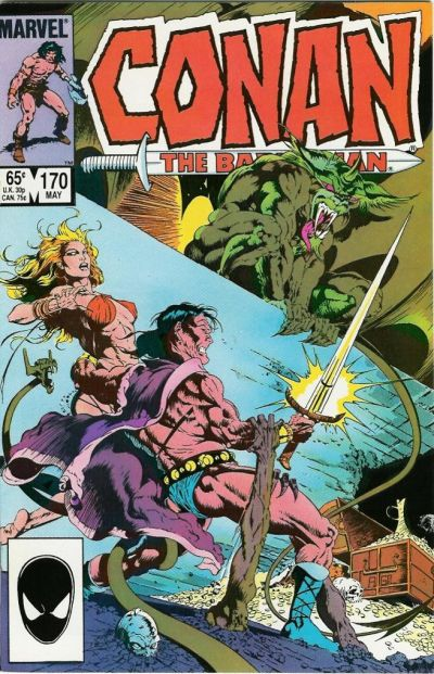 Cover for Conan the Barbarian (Marvel, 1970 series) #170 [Direct Edition]
