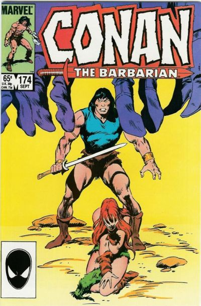 Cover for Conan the Barbarian (Marvel, 1970 series) #174 [Newsstand]
