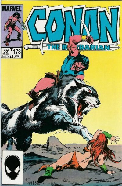 Cover for Conan the Barbarian (Marvel, 1970 series) #178 [Direct Edition]