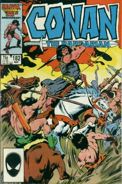 Cover for Conan the Barbarian (Marvel, 1970 series) #182 [Direct Edition]