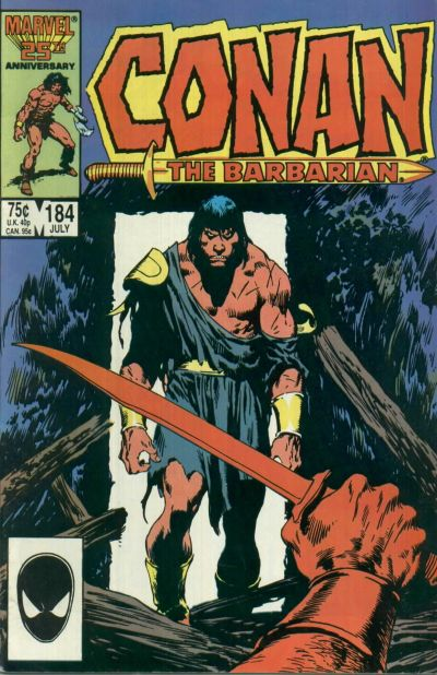Cover for Conan the Barbarian (Marvel, 1970 series) #184 [Newsstand Edition]