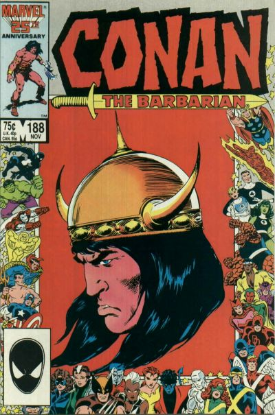 Cover for Conan the Barbarian (Marvel, 1970 series) #188 [Direct Edition]