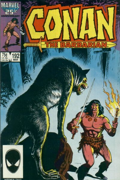 Cover for Conan the Barbarian (Marvel, 1970 series) #192 [Direct Edition]