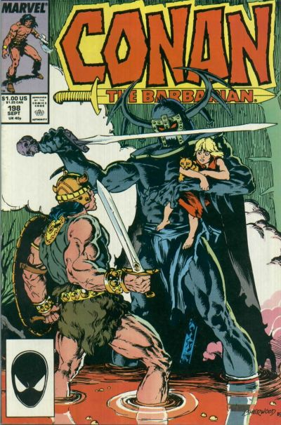 Cover for Conan the Barbarian (Marvel, 1970 series) #198 [Direct Edition]