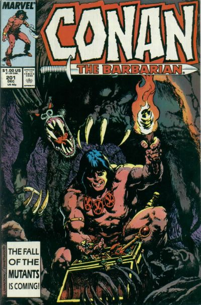 Cover for Conan the Barbarian (Marvel, 1970 series) #201 [Direct Edition]
