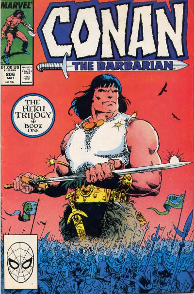 Cover for Conan the Barbarian (Marvel, 1970 series) #206 [Newsstand]
