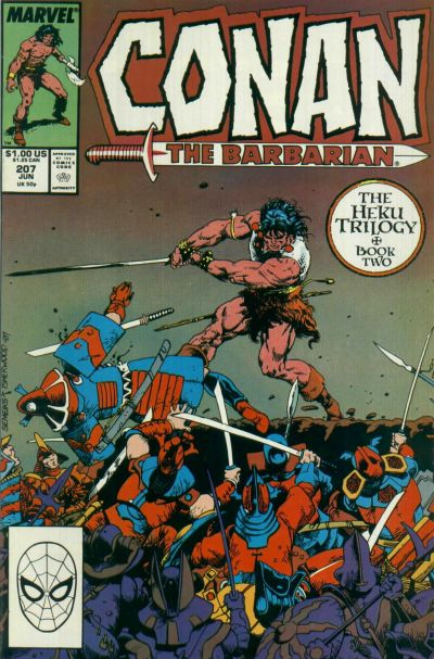 Cover for Conan the Barbarian (Marvel, 1970 series) #207 [Newsstand Edition]