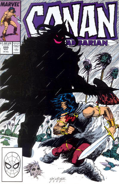 Cover for Conan the Barbarian (Marvel, 1970 series) #209 [Direct Edition]