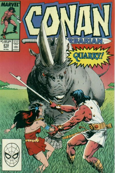 Cover for Conan the Barbarian (Marvel, 1970 series) #210 [Direct Edition]