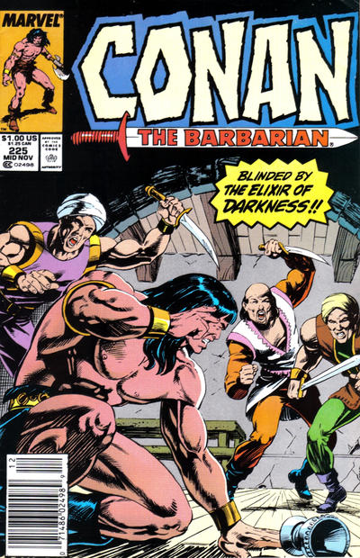 Cover for Conan the Barbarian (Marvel, 1970 series) #225 [Newsstand Edition]