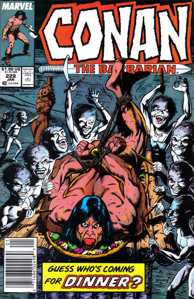 Cover for Conan the Barbarian (Marvel, 1970 series) #228 [Direct Edition]