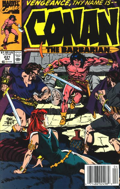 Cover for Conan the Barbarian (Marvel, 1970 series) #231 [Newsstand]
