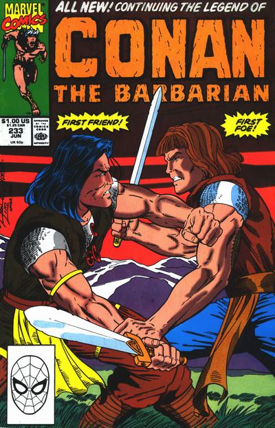 Cover for Conan the Barbarian (Marvel, 1970 series) #233 [Direct Edition]