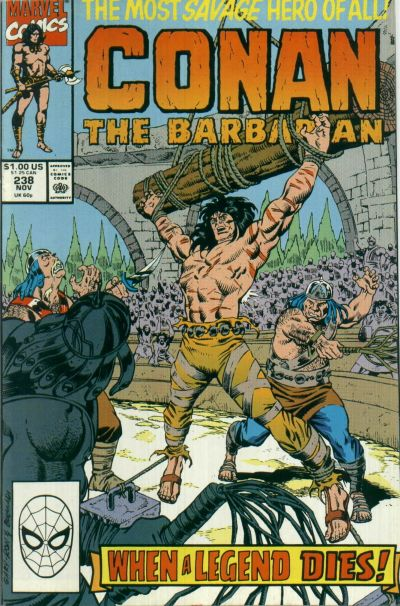 Cover for Conan the Barbarian (Marvel, 1970 series) #238 [Direct Edition]