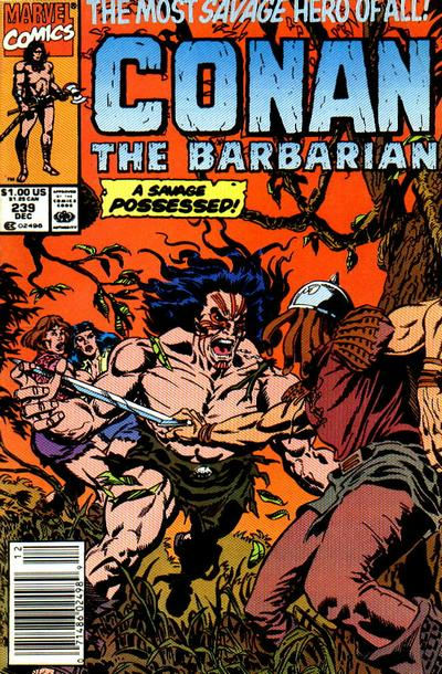 Cover for Conan the Barbarian (Marvel, 1970 series) #239 [Newsstand Edition]