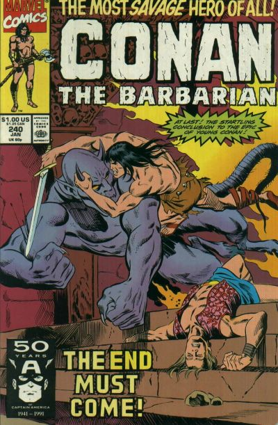 Cover for Conan the Barbarian (Marvel, 1970 series) #240 [Newsstand]