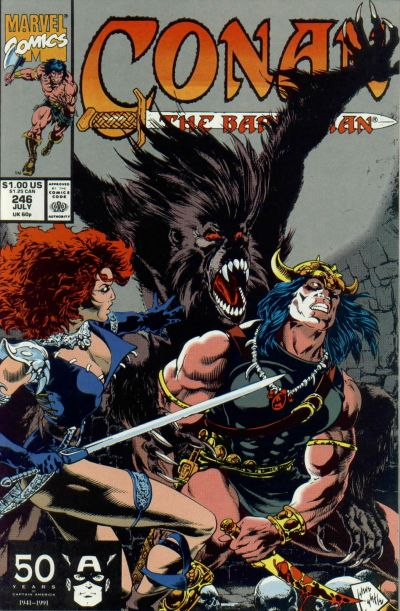 Cover for Conan the Barbarian (Marvel, 1970 series) #246 [Direct Edition]