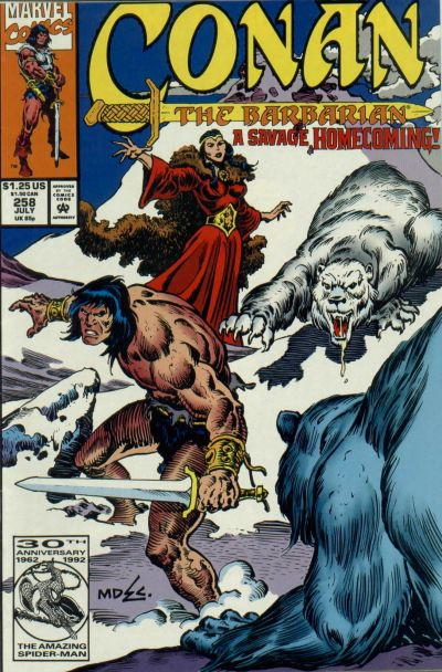 Cover for Conan the Barbarian (Marvel, 1970 series) #258 [Direct Edition]