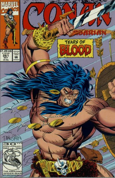 Cover for Conan the Barbarian (Marvel, 1970 series) #261 [Direct Edition]