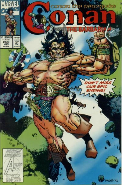 Cover for Conan the Barbarian (Marvel, 1970 series) #269 [Direct Edition]