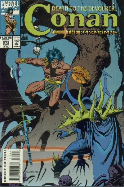 Cover for Conan the Barbarian (Marvel, 1970 series) #272 [Direct Edition]