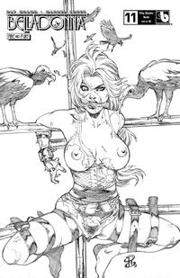 Cover Thumbnail for Belladonna: Fire and Fury (Avatar Press, 2017 series) #11 [Fifty Shades Nude Cover]