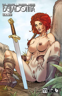 Cover Thumbnail for Belladonna: Fire and Fury (Avatar Press, 2017 series) #11 [Shield Maiden Nude Cover]