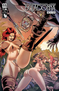 Cover Thumbnail for Belladonna: Fire and Fury (Avatar Press, 2017 series) #11 [Viking Vixen Nude Cover]