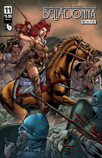 Cover for Belladonna: Fire and Fury (Avatar Press, 2017 series) #11 [Viking Vixen Nude Cover]