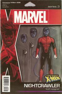 Cover Thumbnail for Uncanny X-Men (Marvel, 2019 series) #8 [John Tyler Christopher Action Figure (Nightcrawler)]