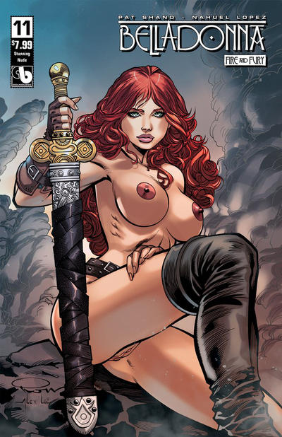 Cover for Belladonna: Fire and Fury (Avatar Press, 2017 series) #11 [Killer Body Nude Cover]