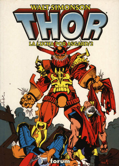 Cover for Thor: La Lucha por Asgard (Planeta DeAgostini, 1999 series) #2
