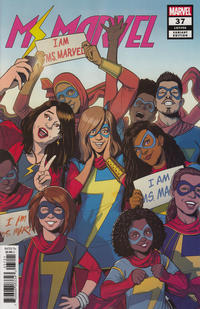 Cover Thumbnail for Ms. Marvel (Marvel, 2016 series) #37 [Variant Edition]