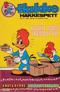 Cover Thumbnail for Hakke Hakkespett (Semic, 1977 series) #12/1980
