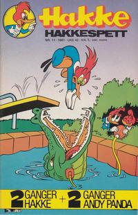 Cover Thumbnail for Hakke Hakkespett (Semic, 1977 series) #11/1981