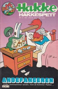 Cover for Hakke Hakkespett (Semic, 1977 series) #12/1981