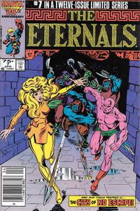 Cover Thumbnail for Eternals (Marvel, 1985 series) #7 [Newsstand]