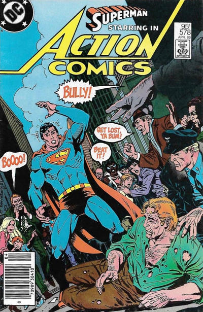 Cover for Action Comics (DC, 1938 series) #578 [Direct]