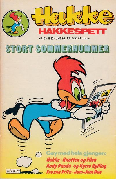 Cover for Hakke Hakkespett (Semic, 1977 series) #7/1980