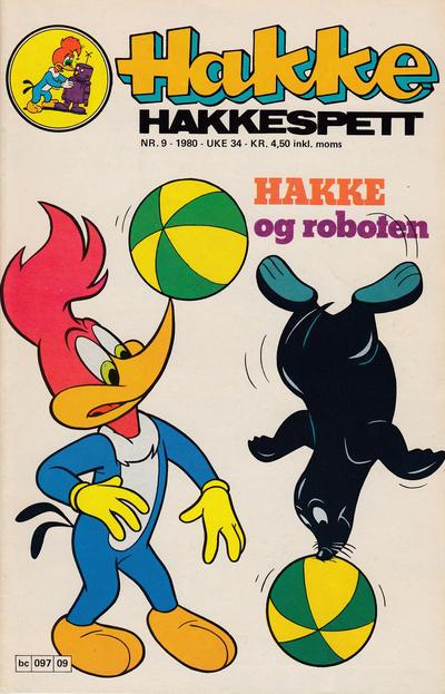 Cover for Hakke Hakkespett (Semic, 1977 series) #9/1980