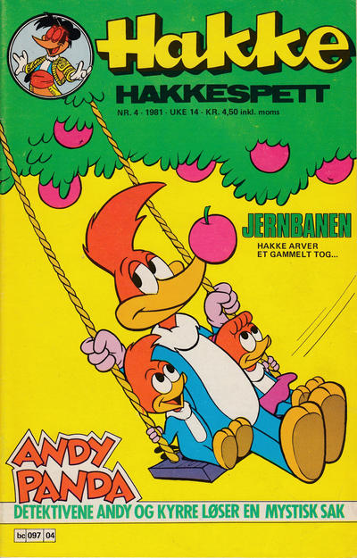Cover for Hakke Hakkespett (Semic, 1977 series) #4/1981