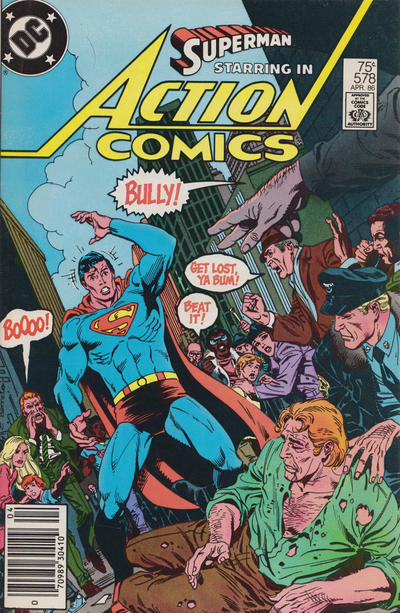 Cover for Action Comics (DC, 1938 series) #578 [Newsstand]