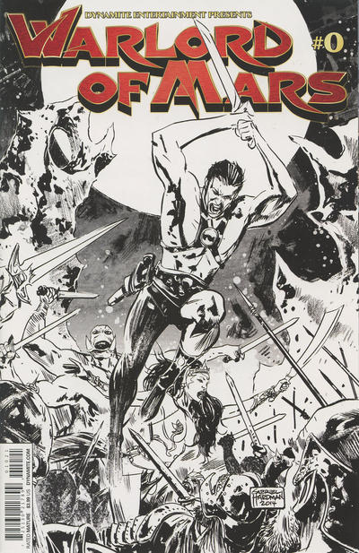 Cover for Warlord of Mars (Dynamite Entertainment, 2010 series) #0 [Main Cover]