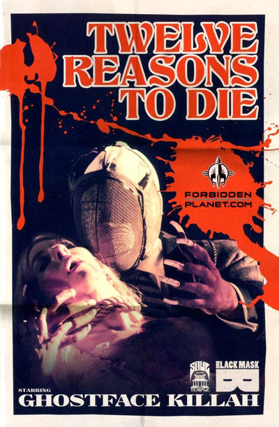Cover for 12 Reasons to Die (Black Mask Studios, 2013 series) #1 [Forbidden Planet / Jetpack Comics Shared Exclusive]